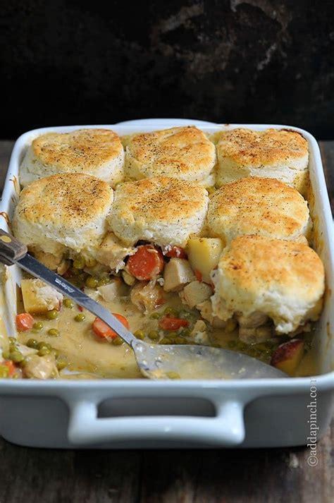 chicken pot pie recipe chicken pot pie with biscuits recipe add a pinch