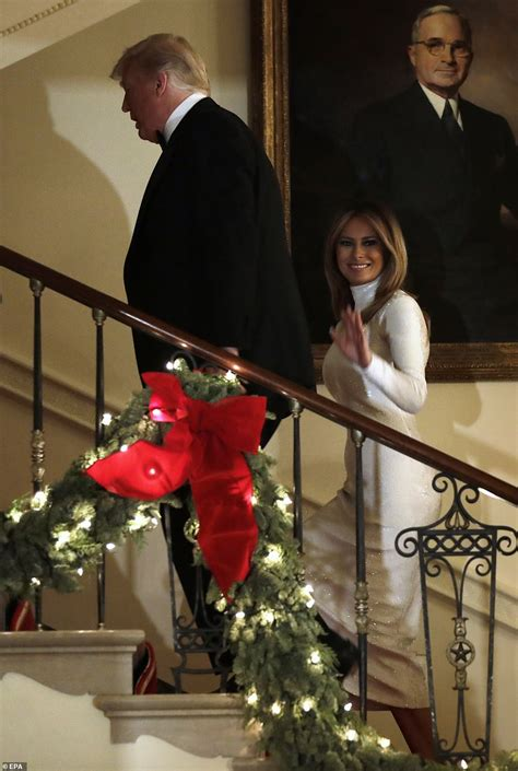 president donald trump  melania pose   official