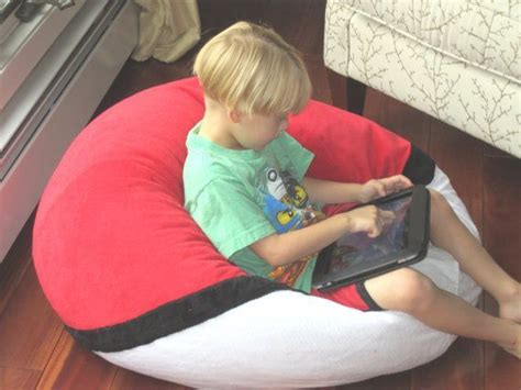 filled pokemon standard bean bag chair    yrs etsy