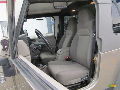 2005 jeep unlimited interior 2005 light khaki metallic jeep wrangler unlimited rubicon