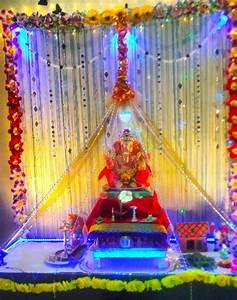 Ganesh Chaturthi Decoration Ideas - Ganesh Pooja Decor