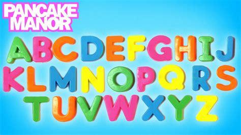 alphabet song learning abc kids songs pancake manor