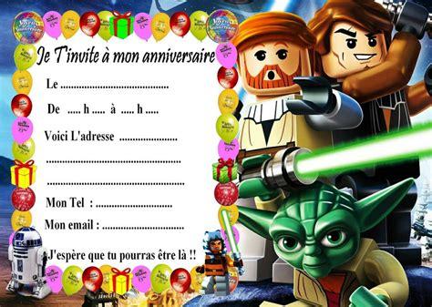 5 Cartes Invitation Anniversaire Lego Star Wars 01