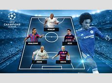 Willian names his dream fiveaside team, only includes