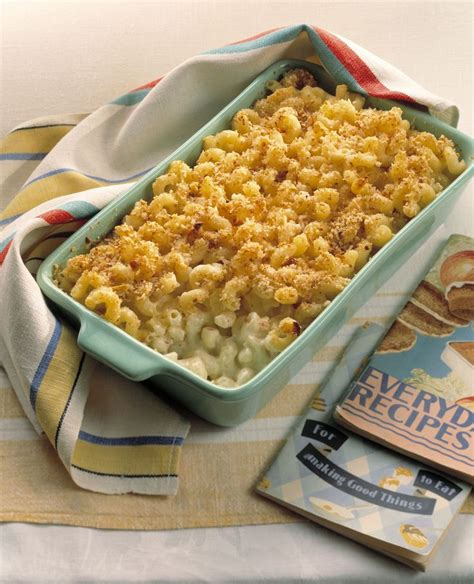 Pour cream over assembled macaroni and cheese. Baked Macaroni with Three Cheeses | Recipe | Food recipes, Mac, cheese homemade, Cottage cheese ...