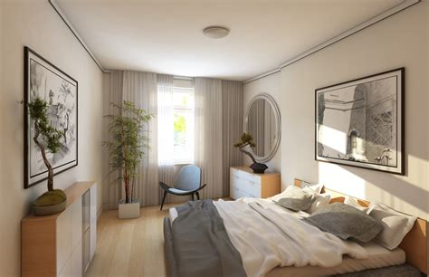 Light wood floors with light furniture, bedrooms with