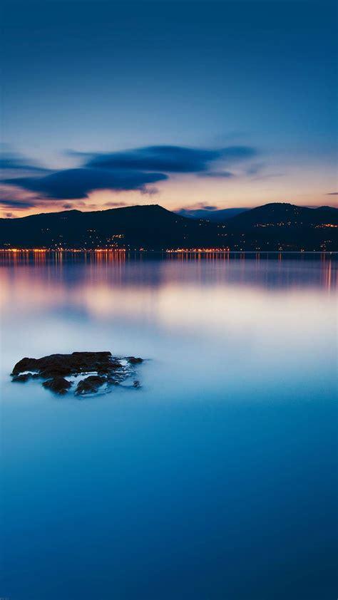 nature peaceful lake night cityscape scene iphone