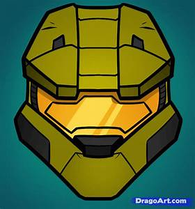How to Draw Master Chief Easy, Halo, Step by Step, Video ...