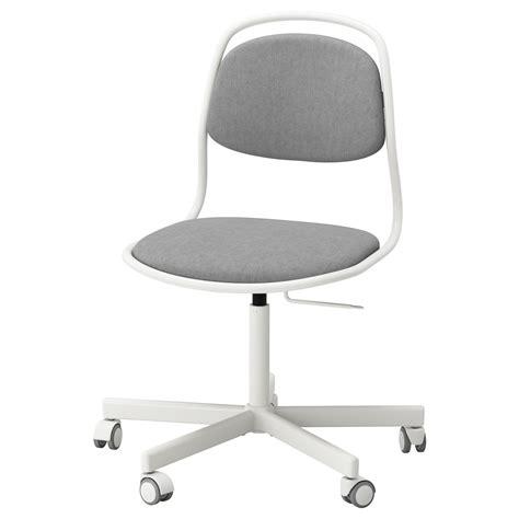 ikea white desk chair örfjäll sporren swivel chair white vissle light grey ikea