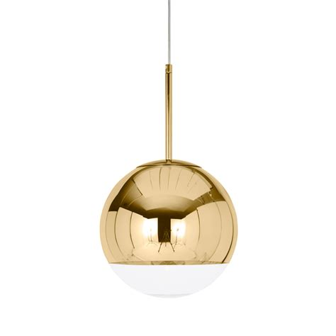 gold pendant light mirror gold pendant light by tom dixon