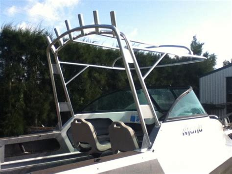 Boat Canopy Rod Holders by Custom Aluminium Boats Rocket Launcher Rod Holders