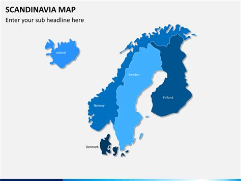 Which For The Nordic Countries Scandinavia Nordic Countries Map Powerpoint Sketchbubble