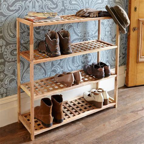 store  tier walnut wooden shoe rack