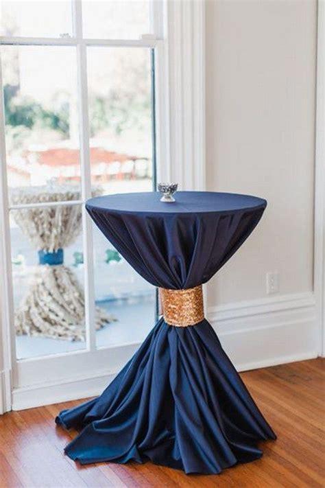 navy blue  gold wedding ideas wedding table linens