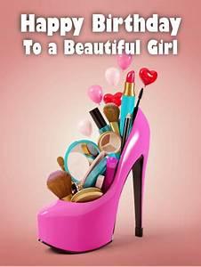 Happy Birthday Beautiful Girl Card   Birthday & Greeting ...