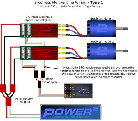 Rc Motor Wiring Diagram by Dual Brushless Setup Rc
