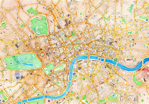 watercolour  cool maps  london created  map