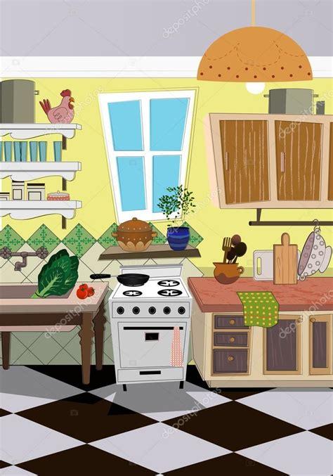 dessin animé cuisine arrière plan de style dessin animé cuisine image