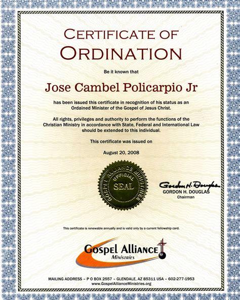 ordination certificate template pin ordination certificate templates pictures on