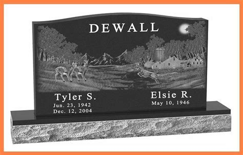 cemetery headstones black granite serp top monument ebay