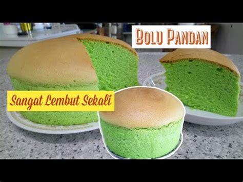Kue ini memiliki tekstur yang lembut dan rasa yang manis. Resep Bolu Pandan Panggang - YouTube