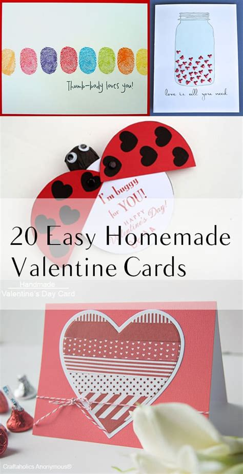 easy homemade valentine cards   build