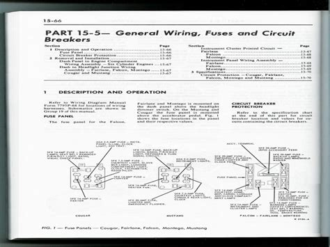 Mustang Fuse Panel Box Diagram Ford