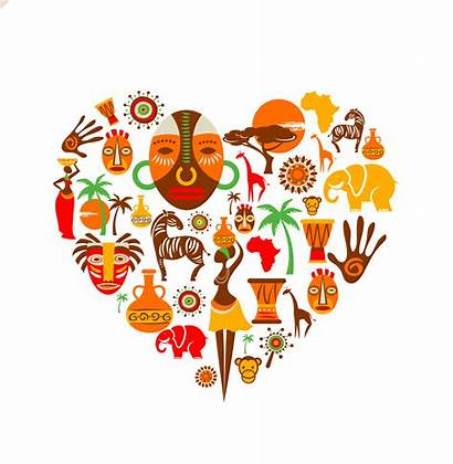 Africa Heart Vector African Icons Illustration Clipart