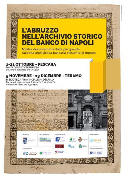 Direttore Generale Banco Di Napoli L Abruzzo Nell Archivio Storico Banco Di Napoli