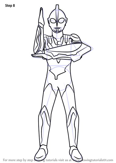 Coloring Ultraman Geed by Step By Step How To Draw Ultraman Ribut