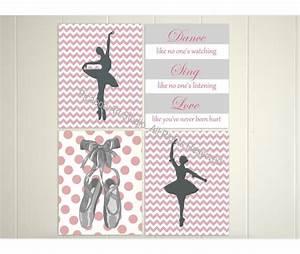 Ballerina wall art chevron ballet dancer by