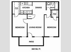 Clearview Apartments, Mobile, Alabama, 2bedroom floor plan