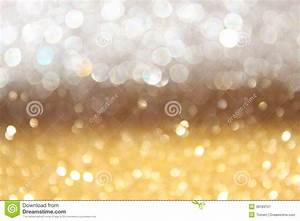 White And Gold Abstract Bokeh Lights. Defocused Background ...