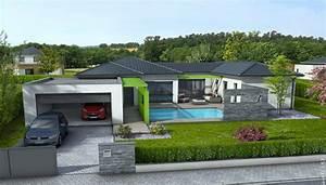 modele de maison en u plan contemporaine olivine plain With modele de maison en u