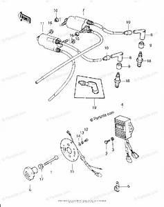 Kawasaki Motorcycle 1980 Oem Parts Diagram For Ignition