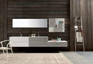 Meuble Salle De Bain Asymétrique : meuble sous vasque salle de bain 35 solutions design ~ Nature-et-papiers.com Idées de Décoration