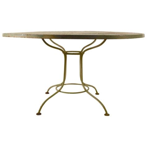 metal mesh top patio table round metal mesh top garden table for sale at 1stdibs
