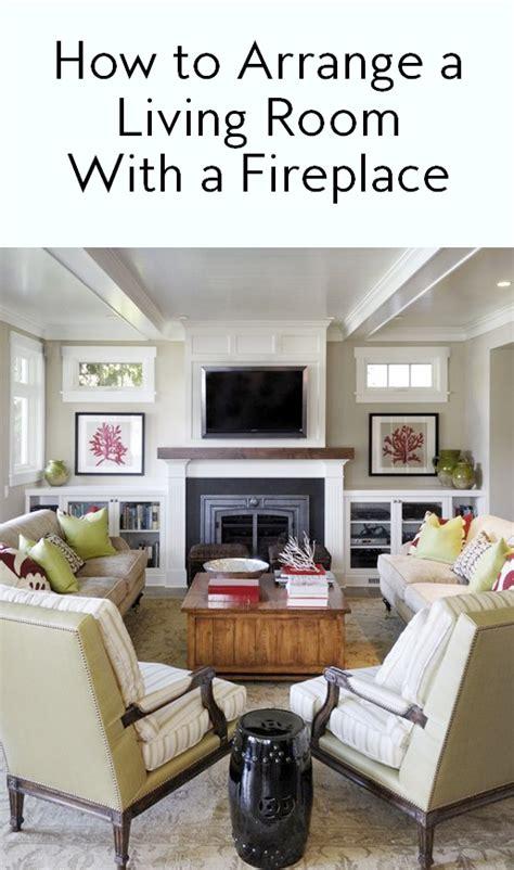 arrange  living room   fireplace instylecom