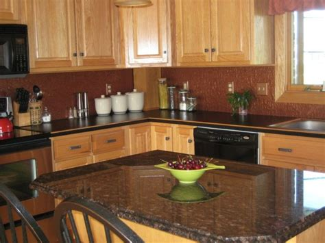 Decorating Ideas For Black Kitchen Cabinets by Brown Color Cheap Backsplash Ideas With Soft Walnut Brown