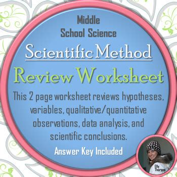 Scientific Method Review Worksheet By Elly Thorsen Tpt