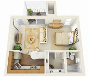 Home ideas studio apartment floor plans for One room apartment design plan