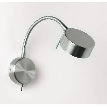 endon 102 wbsc 1 light low energy wall light satin chrome switched