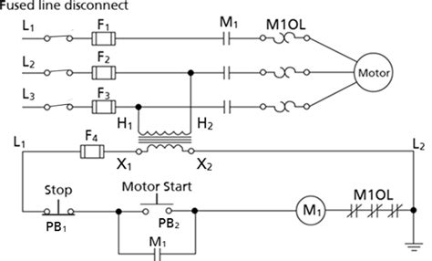 Motor Starter Control Circuit Labeled Wisc Online Oer