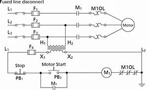 Motor Starter Control Circuit Labeled