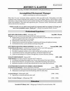 restaurant general manager resume sample website resume With resume templates for restaurant managers
