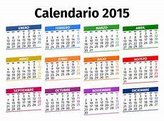 Spanish Calendar 2015 Stock Photo Image 45142228