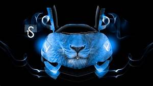 Neon Blue Lamborghini Aventador | Car Interior Design