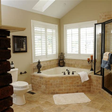 Corner Tub Bathroom Designs by Corner Whirlpool Tub Design Ideas Pictures Remodel And