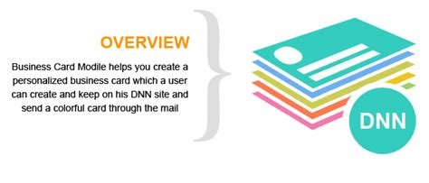 dnn business card module  create  personalized business