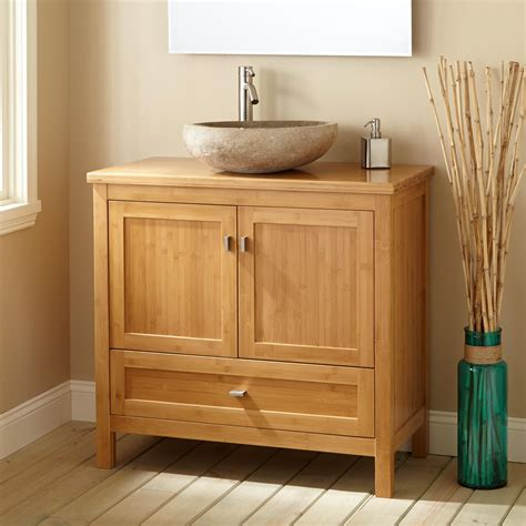 furniture gorgeous simple style  bamboo vanity